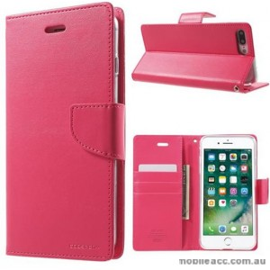 Korean Mercury Bravo Diary Wallet Case Cover For iPhone 7/8 Plus 5.5 inch - Hot Pink