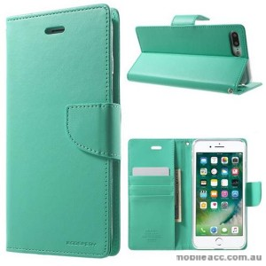 Korean Mercury Bravo Diary Wallet Case Cover For iPhone 7/8 Plus 5.5 inch - Mint Green