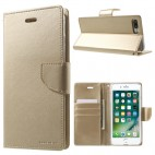 Korean Mercury Bravo Diary Wallet Case Cover For iPhone 7/8 Plus 5.5 inch - Gold