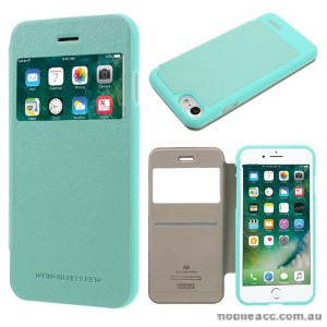 Korean Mercury WOW Window View Flip Cover For iPhone7+/8+ 5.5 inch - Mint