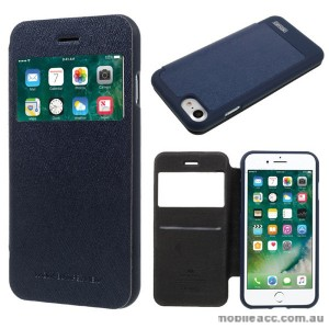 Korean Mercury WOW Window View Flip Cover For iPhone 7+/8+ 5.5 inch - Navy