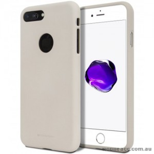 Genuine Mercury Goospery Soft Feeling Jelly Case Matt Rubber For iPhone 7 Plus - Stone