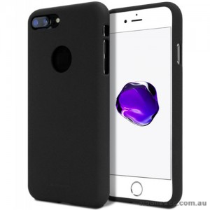 Genuine Mercury Goospery Soft Feeling Jelly Case Matt Rubber For iPhone 8 Plus - Black