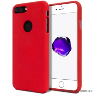 Genuine Mercury Goospery Soft Feeling Jelly Case Matt Rubber For iPhone 8 Plus - Red