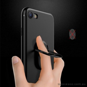 TPU Magnetic Holder With iRing Matte Finish For iPhone 7+/8+  5.5 inch - Black