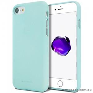Genuine Mercury Goospery Soft Feeling Jelly Case Matt Rubber For iPhone 7/8 - Mint