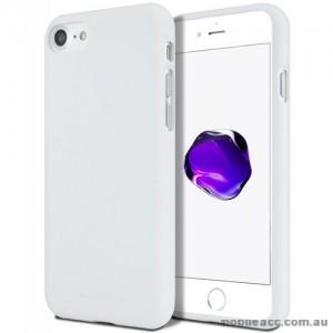 Genuine Mercury Goospery Soft Feeling Jelly Case Matt Rubber For iPhone 7/8 - White