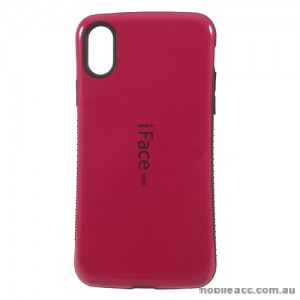 iFace Anti-Shock Case For iPhone X - Hot Pink