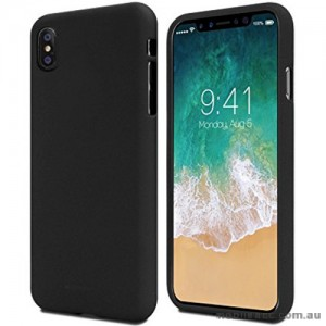 Genuine Mercury Goospery Soft Feeling Jelly Case Matt Rubber For iPhone X - Black