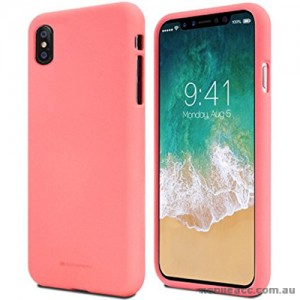 Genuine Mercury Goospery Soft Feeling Jelly Case Matt Rubber For iPhone X - Coral