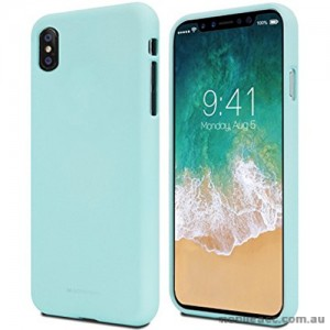 Genuine Mercury Goospery Soft Feeling Jelly Case Matt Rubber For iPhone X - Mint