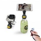 iStabilizer Q3 Mini Portable Selfie Stick Bottle Head Stick With Bluetooth Shutter Control 10m Universal Phones Using