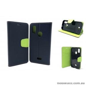 Mooncase fancy Diary  Wallet Case Cover For Telstra  ZTE Tough MAX 3 T86  Navy Blue