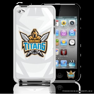 NRL Licensed Gold Coast Titans Watermark Back Case for iPod Touch 4