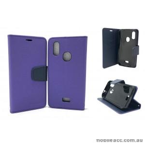 Mooncase fancy Diary  Wallet Case Cover For Telstra  ZTE Tough MAX 3 T86  Purple