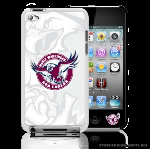 NRL Licensed Manly Warringah Sea Eagles Watermark Back Case for iPod Touch 4