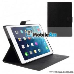 Mercury Fancy Diary Wallet Case For iPad Pro 12.9 inch 2020  Black