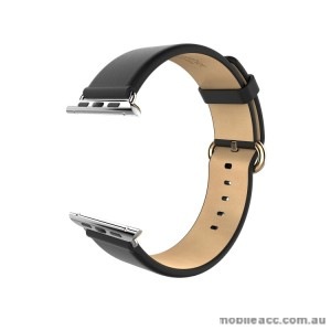 HOCO ART SERIES CLASSIC REAL LEATHER WATCHBAND FOR APPLE WATCH - BLACK