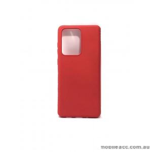 Hana Soft Feeling Jelly Case For Samsung S20 Ultra  6.9 inch  Red