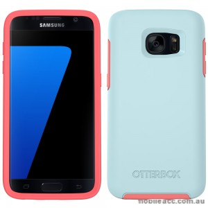 Otterbox Samsung Galaxy S7 Edge Symmetry Series Case Ultra-Slim  Boardwalk (Light Blue/Neon Pink)