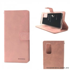 Bluemoon Diary Wallet Case For Samsung A71 6.7 inch  A715  Rose Gold