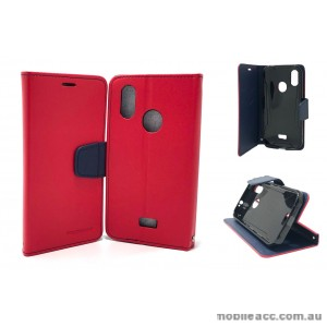 Mooncase fancy Diary  Wallet Case Cover For Telstra  ZTE Tough MAX 3 T86  Red