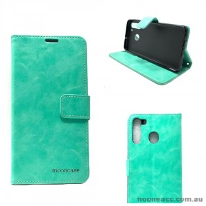 Mooncase Diary Wallet Case For Samsung A21 6.5 inch  A215  Mint Green