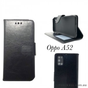 Wallet Case For Oppo A52 Black