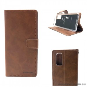 Bluemoon Diary Wallet Case For Samsung A71 6.7 inch  A715  Brown
