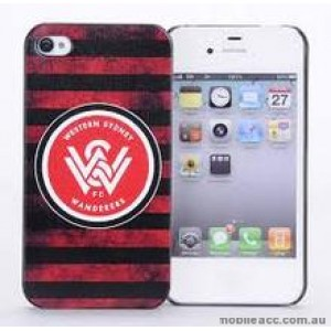 Licensed A-League Western Sydney Wanderers Grunge Back Case for iPhone 4/4S