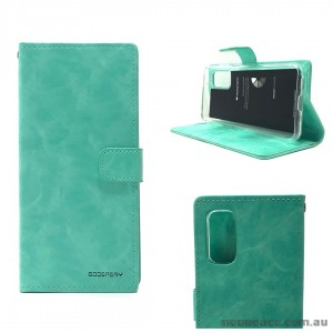 Bluemoon Diary Wallet Case For Samsung A51 6.5 inch  A515  Mint Green