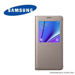 Original Samsung Galaxy Note 5 S View Cover Gold