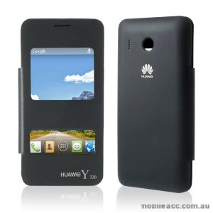 S View Flip Cover for Huawei Y320 - Black