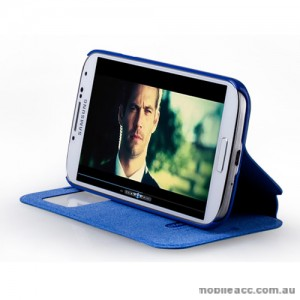 Momax Stand View European Style Flip Cover - Samsung Galaxy S4 i9500 - Blue