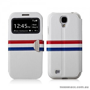 Momax Stand View French Style Case for Samsung Galaxy S4 i9500 - White