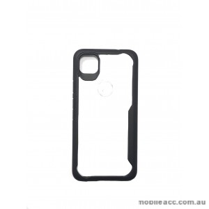 Anti Shock Heavy Duty TPU PC Case Cover For Google Pixel 4A  Black