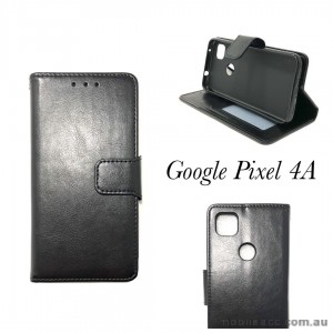 Mooncase Wallet  Case Cover for Google Pixel 4A  Black