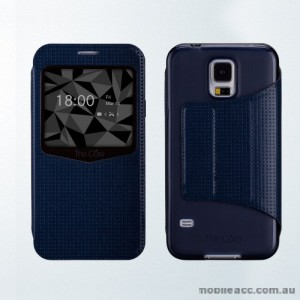 The Core Smart View Case Cover for Samsung Galaxy S5 - Blue