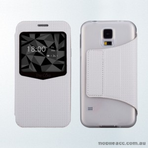 The Core Smart View Case Cover for Samsung Galaxy S5 - White
