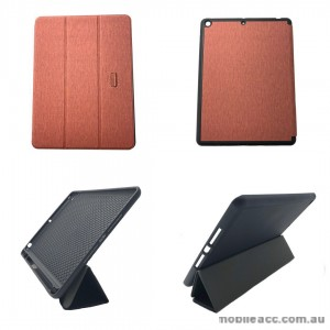Foldable Magnetic Smart Cover for Apple iPad 10.2 inch 2019  Brown