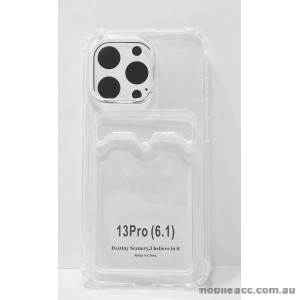 2.0MM Anti Shock TPU Card Slot Case For iPhone 13 6.1inch  Clear