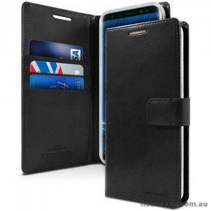 Mercury Goospery Blue Moon Diary Wallet Case For iPhone 13  6.1inch  Black
