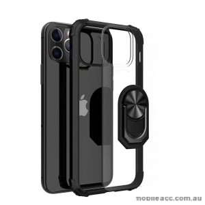 Anti Shockproof Heavy Duty With Stand With Magnet Case For iPhone 12 6.1inch  Clear Black