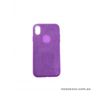 Bling Simmer TPU Gel Case For iPhone X / Iphone Xs 5.8'  Purple