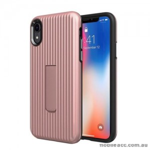 Luggage Case with Kickstand Shockproof Heavy Duty Case Cover For Iphone XS MAX  6.5'  Rose Gold