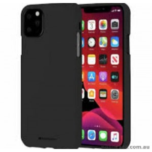 Genuine Goospery Soft Feeling Jelly Case Matt Rubber For iPhone11 6.1' (2019)  BLK