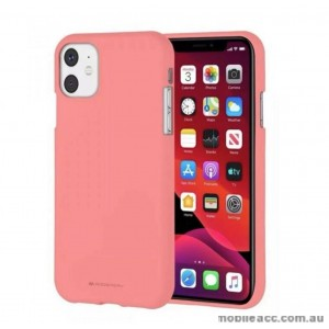 Genuine Goospery Soft Feeling Jelly Case Matt Rubber For iPhone11 6.1' (2019)  Coral