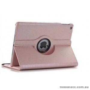 360 Degree Rotary Flip Case for New Ipad 9.7  2018  Rose Gold