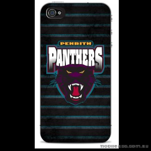 NRL Licensed Penrith Panthers Grunge Back Case for iPhone 4/4S