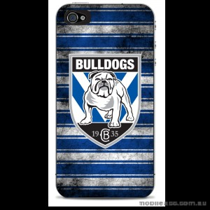 NRL Licensed Canterbury Bankstown Bulldogs Grunge Back Case for iPhone 4/4S